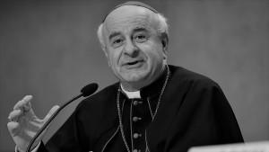 Vincenzo Paglia, Präsident des Päpstlichen Familienrates, bei der Pressekonferenz zur Bekanntgabe, wo das 8. Treffen katholischer Familien 2015 stattfindet. Erstmals werden sich die Familien in Nordamerika treffen - vom 22. bis zum 27. September 2015 in Philadelphia.